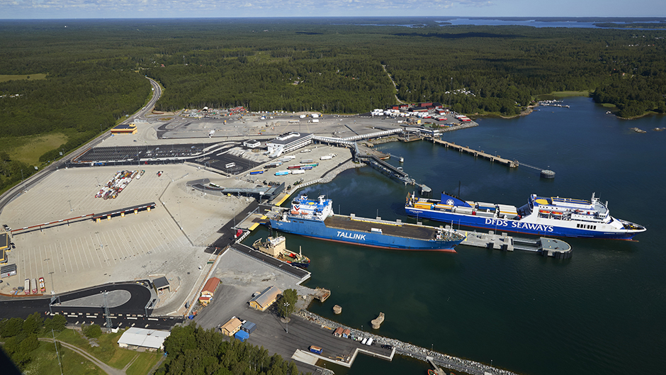 Aerial view of Port of Kapellskär