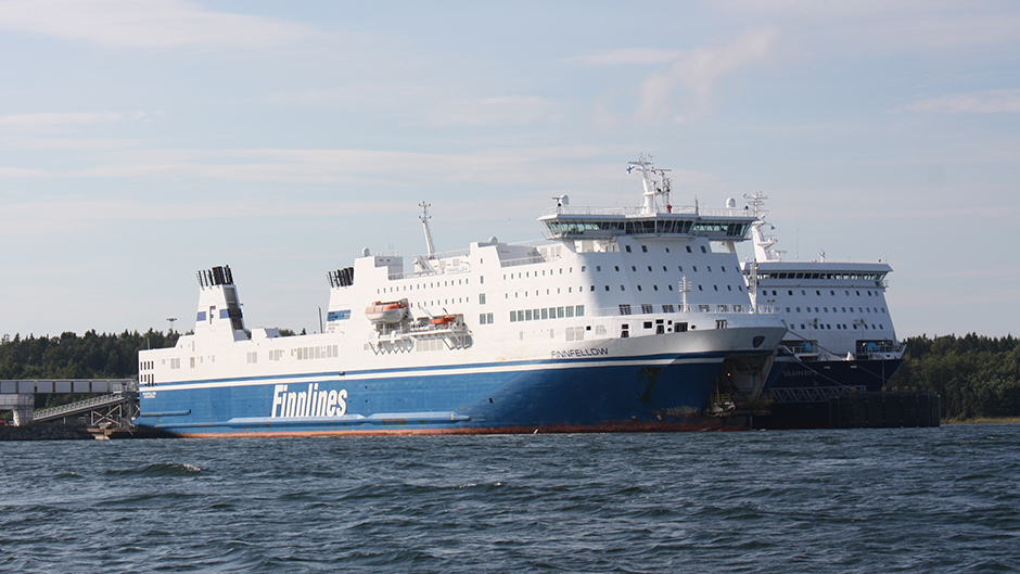 Finnlink's vessel at Port of Kapellskär