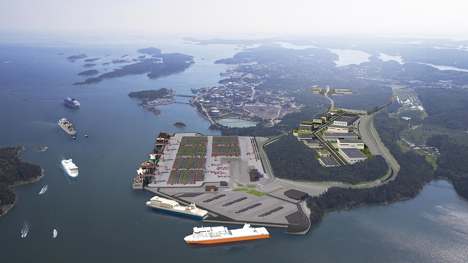 The future Stockholm Norvik Port