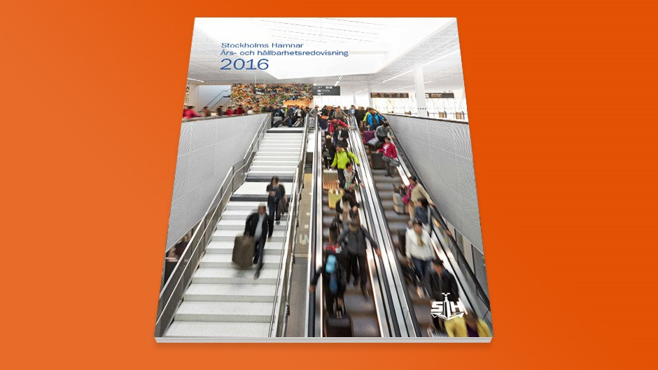 The cover of the annual report 2016