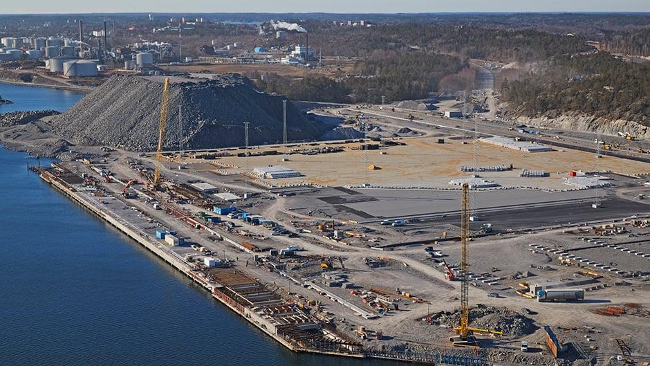 Container quay Stockholm Norvik Port