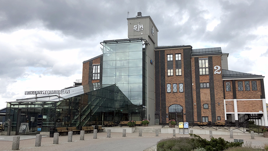The exterior of the building Magasin 2/Frihamnen terminal