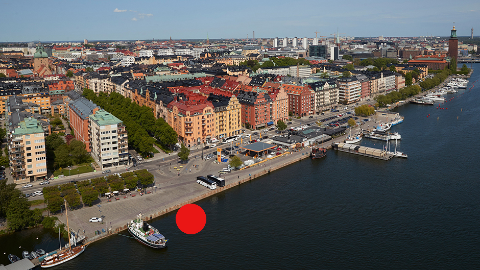Aerial view of Norr Mälarstrand and Kungsholmen