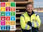 CEO Ports of Stockholm Thomas Andersson together with UN Sustainable Development Goals